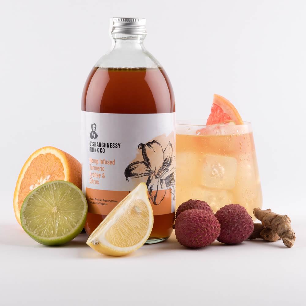 O'Shaugnessy Hemp Infused Turmeric, Lychee & Citrus - composite